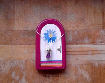 Happy Fairy Door | Handmade Solid Wood Fairy Door | First Tooth Gift | Unique Gift | Pretend Play | Wall Decoration