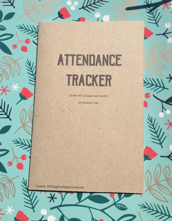 Attendance Planner Printable, School Attendance, Teacher Planner, Grade  Book, Inserts, Planner Inserts, School Planning, A5, Download