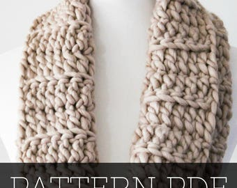 PATTERN for Chunky Cowl | Crochet Pattern | Crochet Cowl | Cowl Pattern | Crochet Scarf | Crochet | Pattern | Chunky Cowl | Simple Cowl |