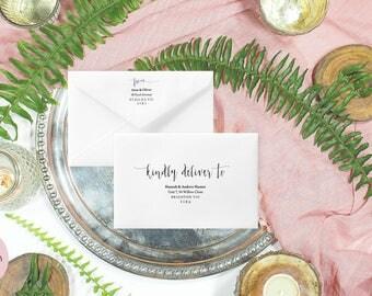 Envelope address template, Wedding envelope template, Wedding envelopes, Calligraphy envelope addressing, A7 envelopes, Editable pdf