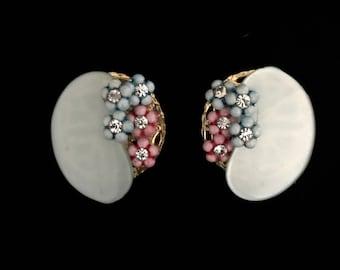 50s Lucite and Rhinestone Earrings   GJ2845