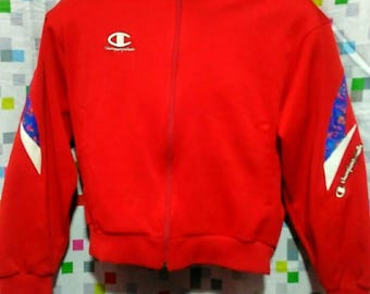 Vintage Clothing 90's Rare Championproduct USA Jaspo Red Sweatshirts Size M