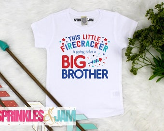 4th of July, Pregnancy Announcement, Big Brother, 4th of July Outfit, Independence Day, Patriotic Announcement