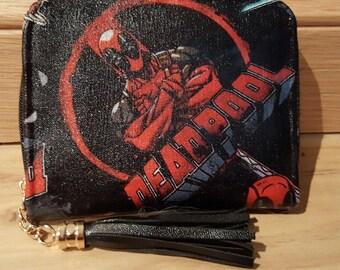 Custom - Womans marvel deadpool - purse wallet