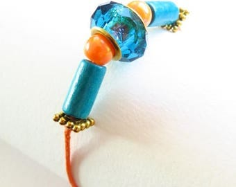 Waxed cotton bracelet 16252