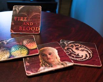 Game of Thrones Coasters - House Targaryen - Set of 4