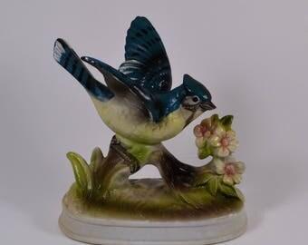 Blue Bird Ceramic Figurine