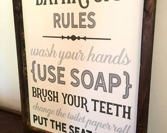 bathroom artwork. Bathroom Wall Decor  Sign Art wall art Etsy