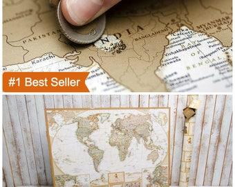 Gold world map etsy wall art travel map world wall map travel wall map wall world map gumiabroncs Gallery