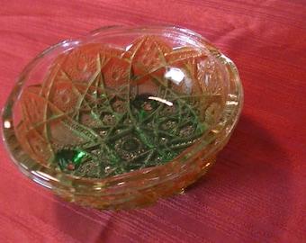 Carnival Glass Candy Dish