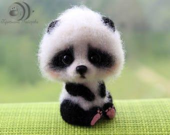 Panda. Woolen toy. Felt toy