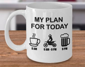 Dirt Bike Mug, Gift for dirt bike riders, Funny dirt bike mug