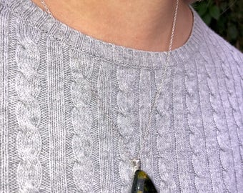 Homemade Glass Fused Pendant Necklace