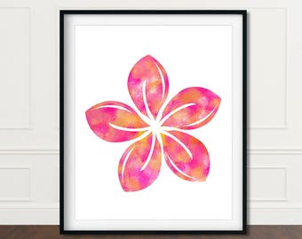 Plumeria Art, Plumeria Wall Decor, Plumeria Wall Art, Plumeria Prints, Tropical Decor Art, Tropical Print, Flower Print, Gift For Wife