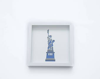Statue of Liberty | 3D Stencil Art | Shadow Box