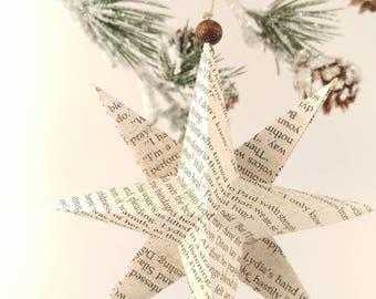 Star Ornament - Book Page