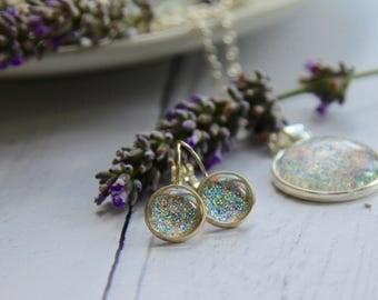 Glitter Earrings - Sparkle Earrings - Drop Earrings - Dangle Earrings