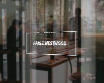 Premade Logo Design, Custom with your Name and Tagline, Minimalistic, Elegant, Classy, Black, Download, Digital File
