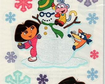 Dora The Explorer Winter Clear Scrapbook Stickers Embellishments Cardmaking Crafts Sandylion
