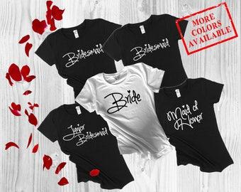 Bridesmaid Shirt Set, Bridesmaid Shirts, Bridesmaids Shirts, Bridal Party Shirts, Bachelorette Shirts, Brides Shirt Set, Bachelorette Party