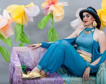Princess Jasmine Disney alladin cosplay costume wig halloween