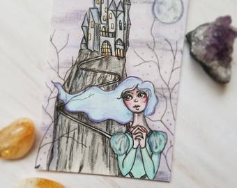 Original The Princess and the Castle Drawing