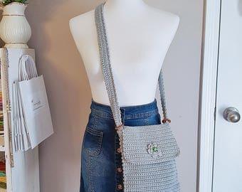 Crochet Handbag, Crossbody purse, boho Handbag