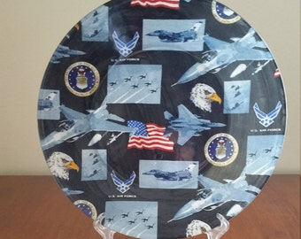 """US Air Force 10"""" Round Plate"""