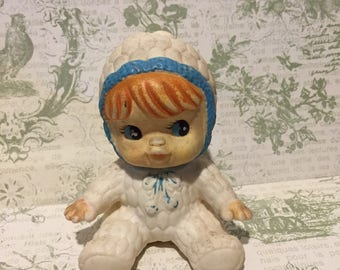 """Vintage 1950's Rubber Squeaky Baby Doll 3.5"""""""