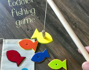 Magnetic Fishing Game for Toddlers - Learn Colors - Practice Fine Motor Skills - Montessori Educational Toy - Best Stocking Stuffer Under 20