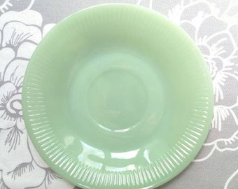 Vintage Jadeite Jane Ray Fire King Saucer c.1950s Anchor Hocking