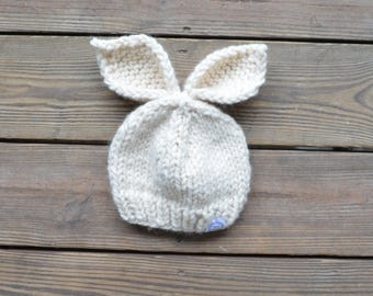 Bunny Hat, Bunny Ears Hat, Newborn Photo Prop, Easter Bunny Hat, Baby Hats, Easter Hat,  Baby Bunny Hat, Baby Beanies, Baby Shower Gift