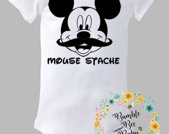 Mickey Mouse, Mouse Stache, Mickey With A Mustache, Super Cute!