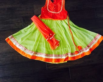 Girls Lehenga Choli/ Girls Chaniya Chol/ Girls Indian Wear