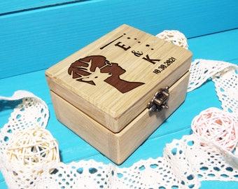 Harry Potter Ring Box, Harry Potter Deer Ring Box, Wedding Ring Box, Ring Bearer Box, Wooden Ring Box, Wedding Gift, Harry Potter Wedding