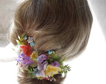 Floral hair clips,Easter hair accessory,spring bride hair clip set,bridesmaids hair clips,flower girl hair clips,bridesmaid gift,pastel clip