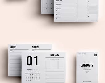 Passport TN Insert | Passport TN Printable | Passport TN Printable Insert | Passport Daily Insert January 2018