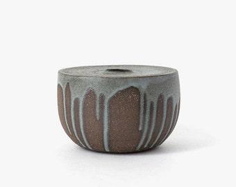 Modern Ceramic Drum Vessel