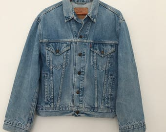 Levis denim jacket / vintage denim jacket / levis jacket / light wash / 70503