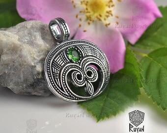Lunula pendant. Viking jewelry. Slavic jewelry. Slavic pendant Moon. Feminine charm