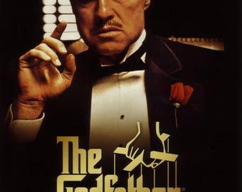The Godfather Marlon Brando Cult Film Movie Art Poster Print Retro Vintage A1 A2 A3 A4