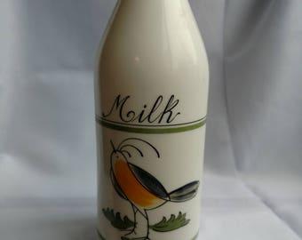 Vintage Hand Painted Milk Jug - Egizia Italy