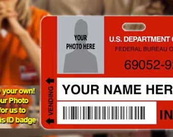 Custom Prop ID Badge Orange is the new black OITNB