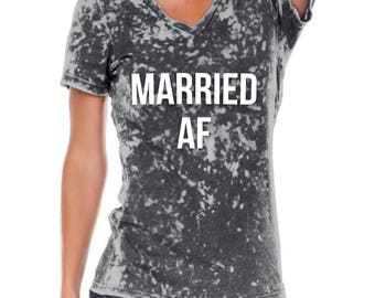 Married AF // Married AF T-shirt // Newly Wed Shirts // Honeymoon // Wedding Shirt // Wedding Gift // Engagement