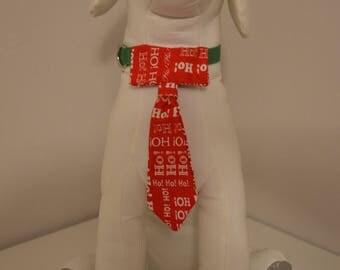 Dog Collar Neck Tie - Small - Ho Ho Ho