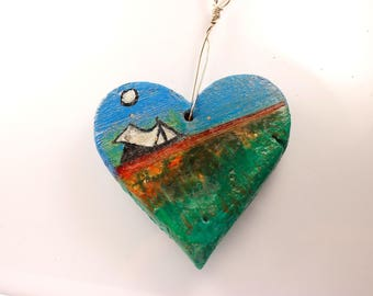 ceramics, ceramic hearts, heart, to hang, home decorations, for her, gift, interior, artistic, home, style, design, art