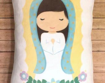 Hail Mary Huggable Mary Prayer Pillow Catholic Little Girl