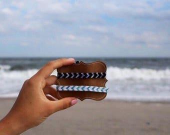 Custom Chevron Friendship Bracelet - Summer Jewelry - Anklet - Surfer Jewelry