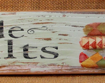 Hand-Painted Olde Quilts Sign