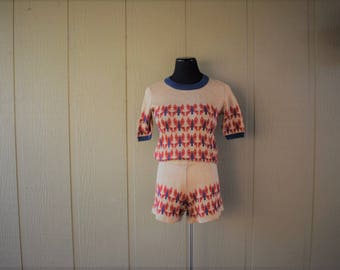 Vintage Joseph Magnin Knit Short Set